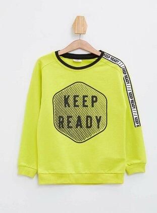 Yellow - Boys` Sweatshirt - DeFacto