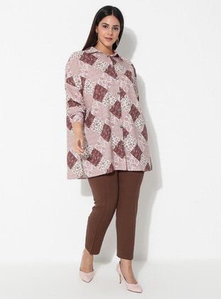 Mink - Viscose - Plus Size Pants