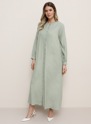 Sea-green - Plus Size Dress