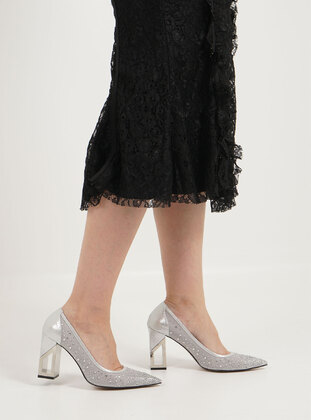 Silver tone - Evening Shoes - Marjin