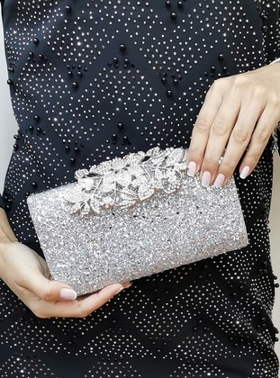 Silver tone - Clutch - Clutch Bags / Handbags - Nazart