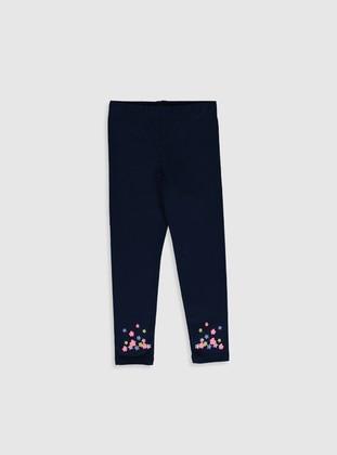 Navy Blue - Girls` Leggings - LC WAIKIKI