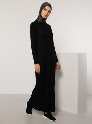 Black - Crew neck - Unlined -  -  - Dress - Tavin