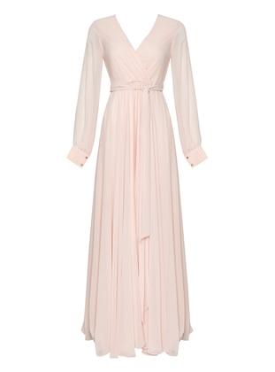 Powder - V neck Collar - Fully Lined - Dress