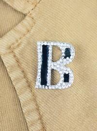 White - Brooch