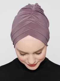 Lilac - Mink - Plain - Instant Scarf