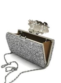 Silver tone - Clutch - Clutch Bags / Handbags