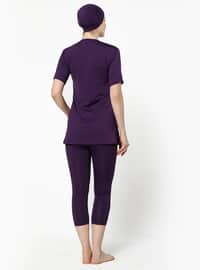 Purple - Half Covered Switsuits