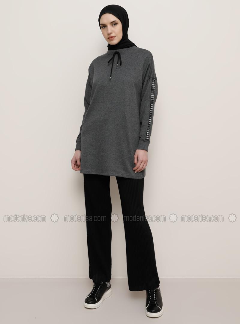 Black - Cotton -  - Pants