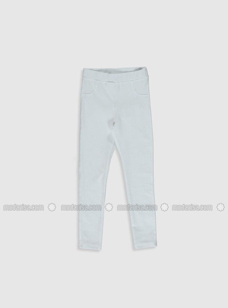 Putih Celana Legging Wanita