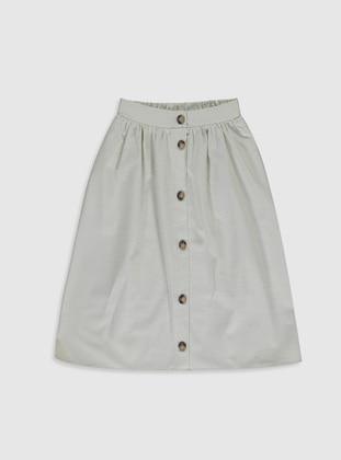 Beige - Girls` Skirt