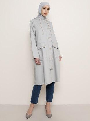 Gray - Trench Coat