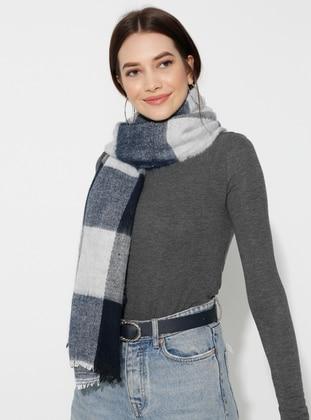 Acrylic - Wool Blend - Multi - Plain - Fringe - Shawl Wrap