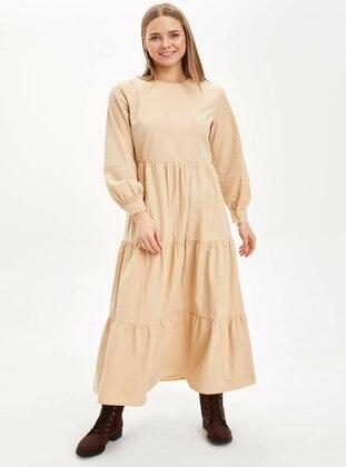 Beige - Dress