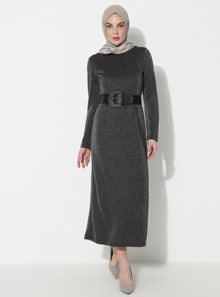 Silver tone - Crew neck - Unlined -  - Dress -  By Tuğba