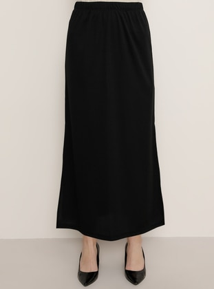 Black - Unlined - Skirt - Tavin