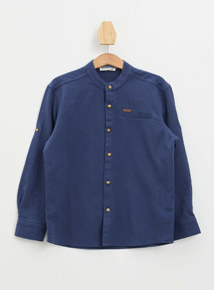 Navy Blue - Boys` Shirt