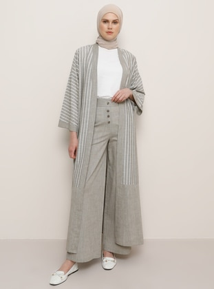 Khaki - Cotton - Pants