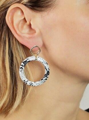 White - Black - Earring