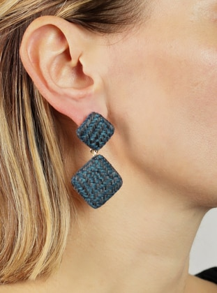 Navy Blue - Earring