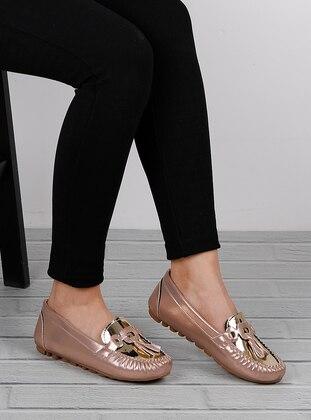 Gold - Rose - Flat - Flat Shoes