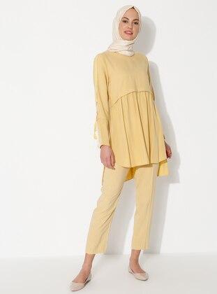 Yellow - Stripe - Pants