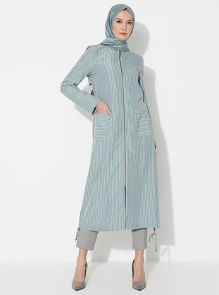 Green - Crew neck - Unlined - Modal - Dress