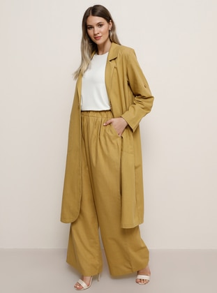 Mustard -  - Plus Size Pants