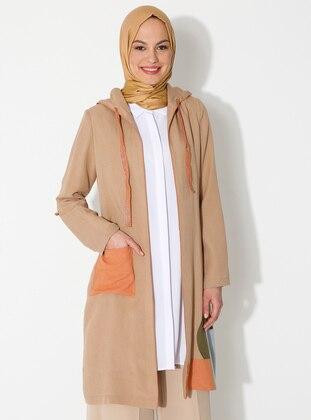 Camel - Unlined - Viscose - Suit