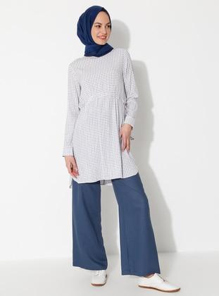 Indigo - Linen - Viscose - Pants