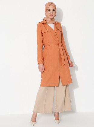 Cinnamon - Point Collar - Unlined - Viscose - Dress