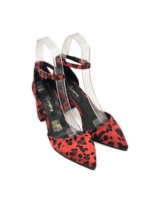 Red - Leopard - High Heel - Heels