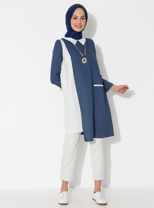 Indigo - Unlined - Linen - Viscose - Suit