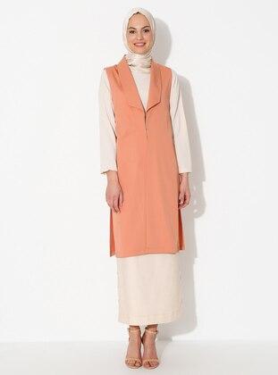 Powder - Unlined - Shawl Collar - Viscose - Vest