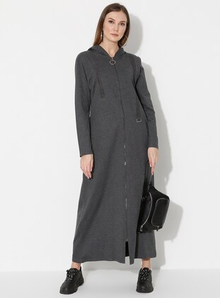 Anthracite - Unlined -  - Abaya