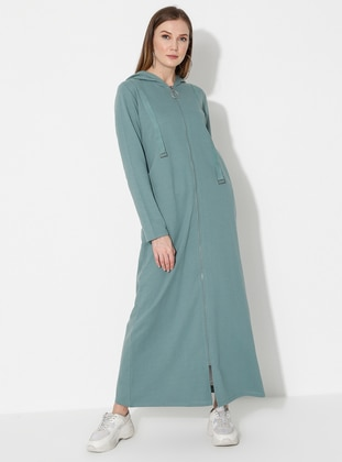 Green Almond - Unlined -  - Abaya