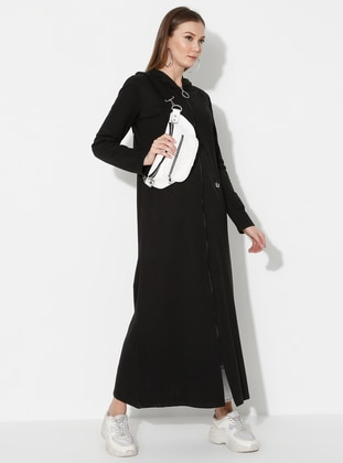 Black - Unlined -  - Abaya