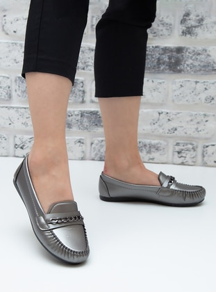 Flat - Casual - Silver tone - Casual Shoes