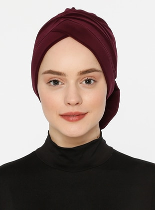 Plum - Lace up - Bonnet