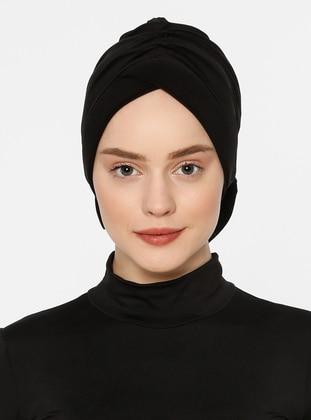 Black - Lace up - Bonnet
