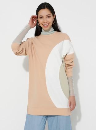 - Crew neck - Salmon - Sweat-shirt