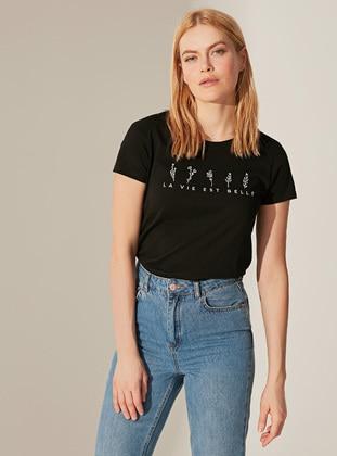 Black - T-Shirt - LC WAIKIKI