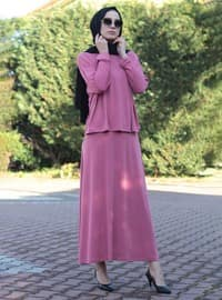 Pink - Pink - Unlined - Viscose - Suit