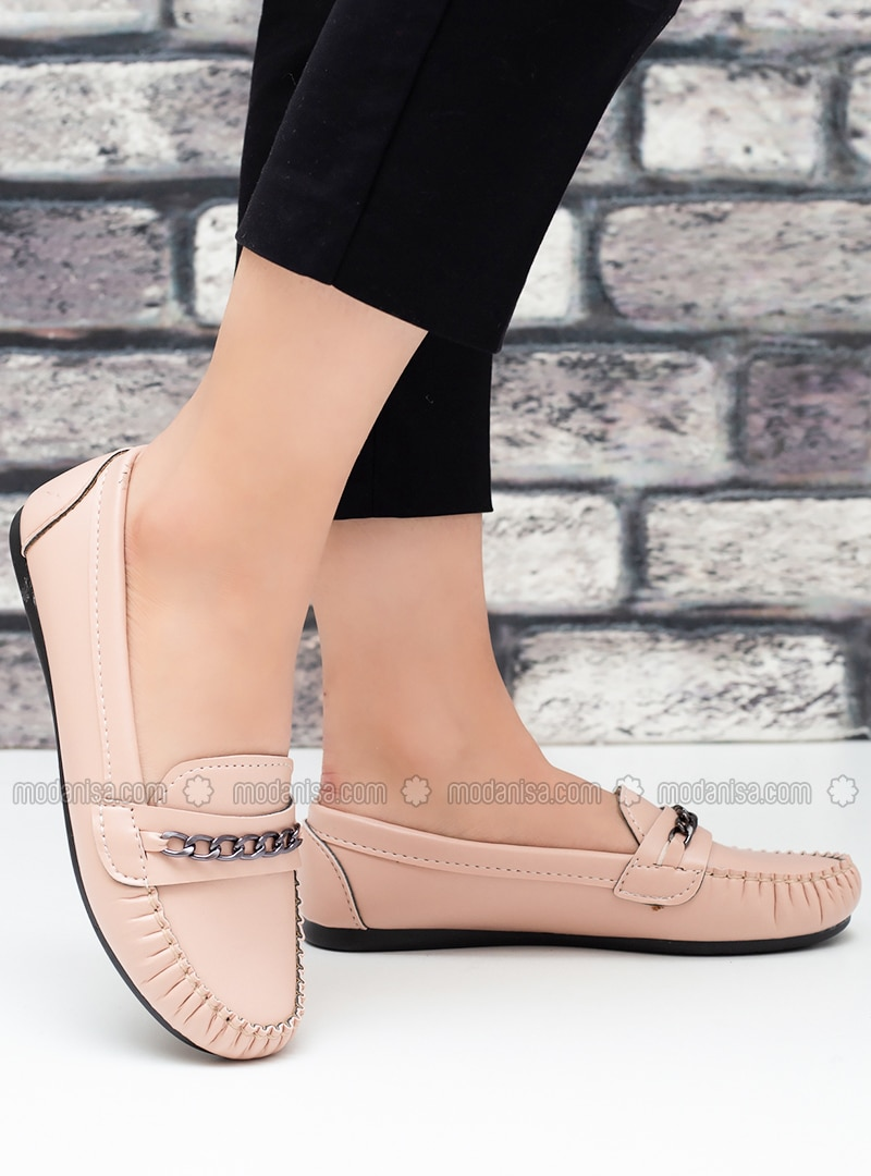 Flat - Casual - Powder - Casual Shoes