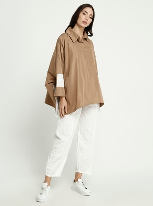 Camel - Point Collar - Blouses
