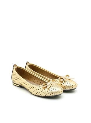 Gold - Gold - Flat - Casual - Flat Shoes