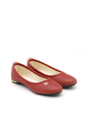 Maroon - Flat - Casual - Flat Shoes