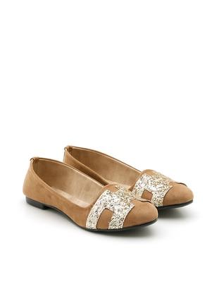 Camel - Flat - Casual - Flat Shoes