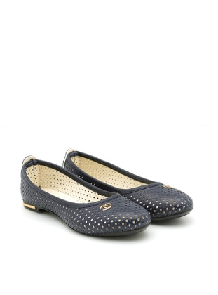 Navy Blue - Flat - Casual - Flat Shoes