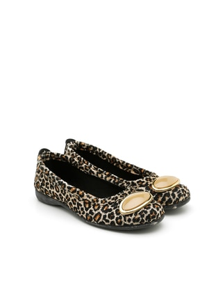 Brown - Leopard - Black - Flat - Casual - Flat Shoes